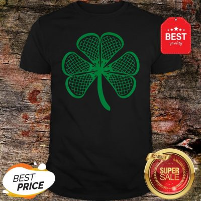Lacrosse St Patricks Day Shamrock Lucky Lacrosse T-Shirt