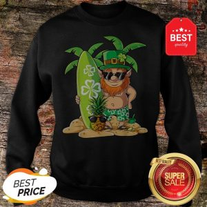 Leprechaun Hawaiian Surfing St Patricks Day Hawaii Men Women Sweatshirt