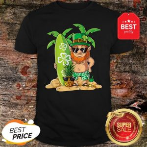 Leprechaun Hawaiian Surfing St Patricks Day Hawaii Men Women T-Shirt