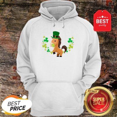 Leprechaun Horse Shamrock For Kids St.Patrick's Day Hoodie