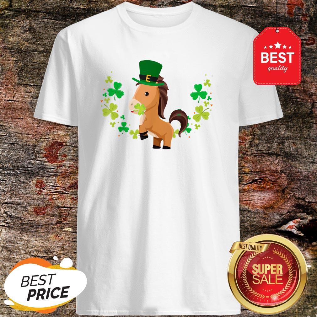 Adults New St Patricks//Paddy/'s day Horse Shamrock print Long sleeve t-shirt//Top