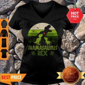 Mamasaurus T-Rex Dinosaur Mother Day V-neck