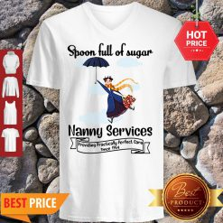 Nice Mary Poppins Spoonful Of Sugar Nanny Services V-neck