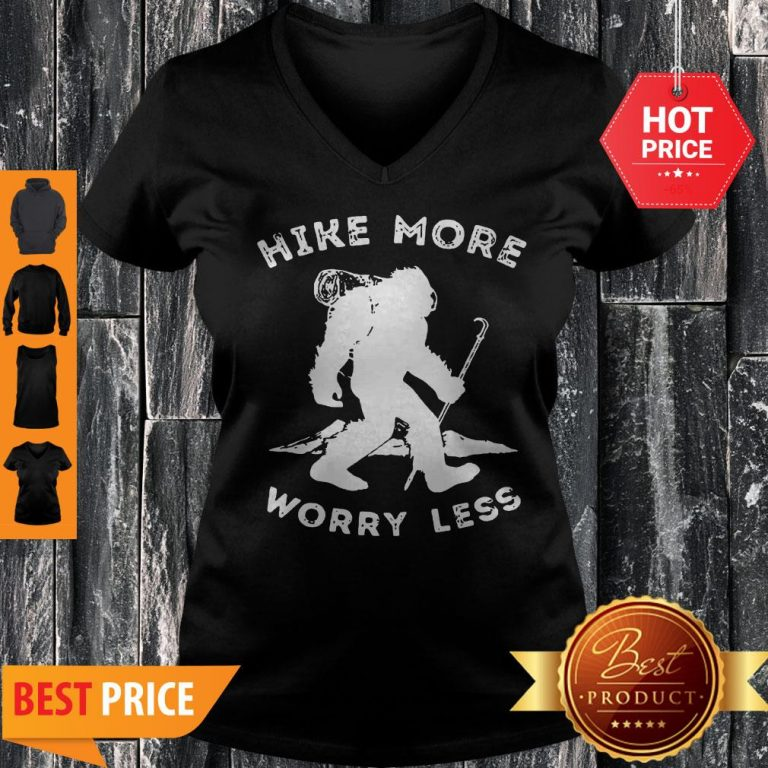 Official Bigfoot Hike More Worry Less V-neck