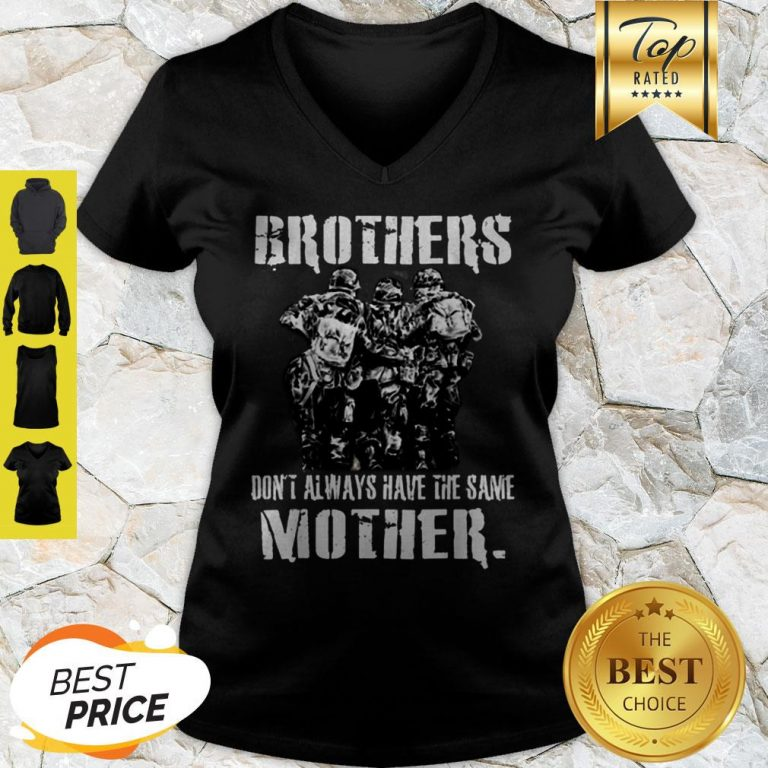 Official Brothers Don't Always Have The Same Mother Veteran V-neck