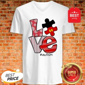 Official Mickey Mouse Love #Signlanguage V-neck