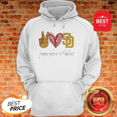 Official Peace love Diego Padres Hoodie