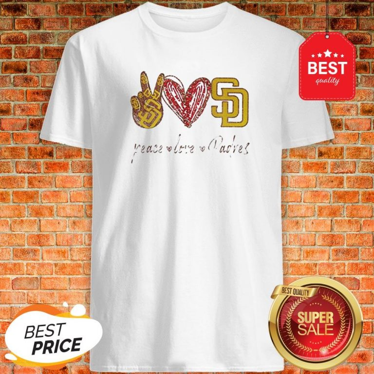 Official Peace love Diego Padres Shirt