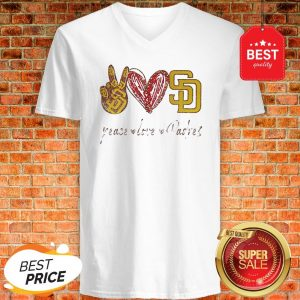 Official Peace love Diego Padres V-neck