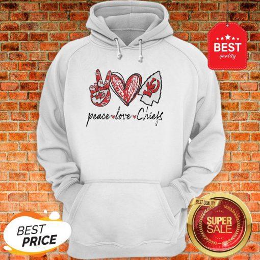 Official Peace love Kansas City Chiefs Hoodie