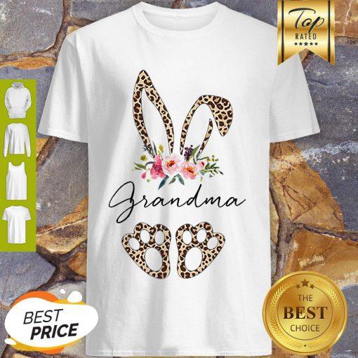 Official Rabbit Bunny Leopard Grandma Flower Shirt