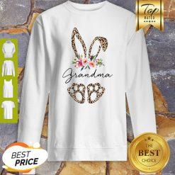Official Rabbit Bunny Leopard Grandma Flower Sweatshirt
