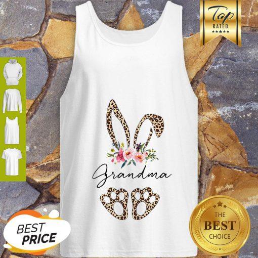 Official Rabbit Bunny Leopard Grandma Flower Tank Top