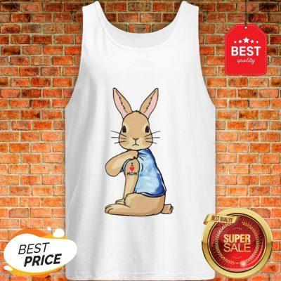 Official Rabbit Tattoos I Love Mom Tank Top