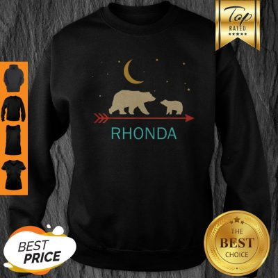 Official Rhonda Name Gift Personalized Mama Bear With 1 Cub Sweatshirt