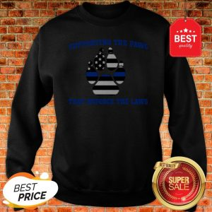 Official Thin Blue Line Supporting The Paws That Enforce The Laws Sweatshirt