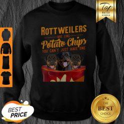 Premium Rottweilers And Potatoes Chips Funny Dog Mama Papa Sweatshirt