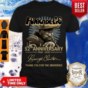 Funkadelic 52nd Anniversary Thank You For The Memories Signature Shirt