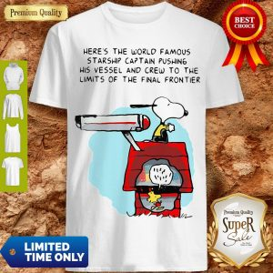 Snoopy And Woodstock Here's The World Famous Starship Snoopy's House Shirt