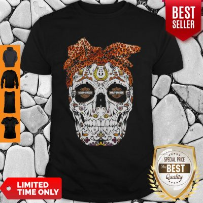 Skull Leopard Moto Harley Davidson Cycles Shirt