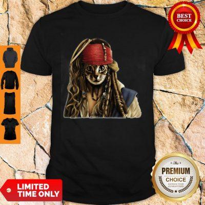 Official Nice Pirates Jack Sparrow Cat Shirt