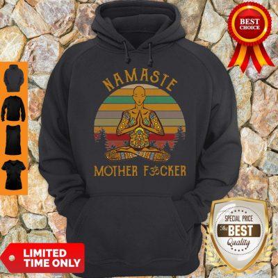 Vintage Yoga Namaste Mother Fucker Hoodie