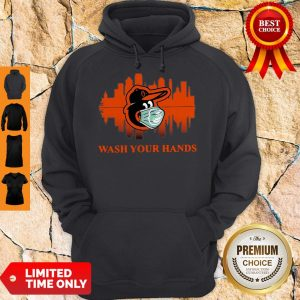 Official Baltimore Orioles Mask Wash Your Damn Hands Covid-19 Hoodie