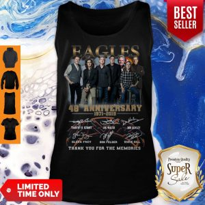 Eagles Band 48th Anniversary Thank You For The Memories Signatures V-neck
