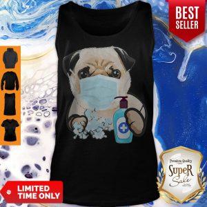 Pug Face Mask Handwashing Dog Lover Tank Top