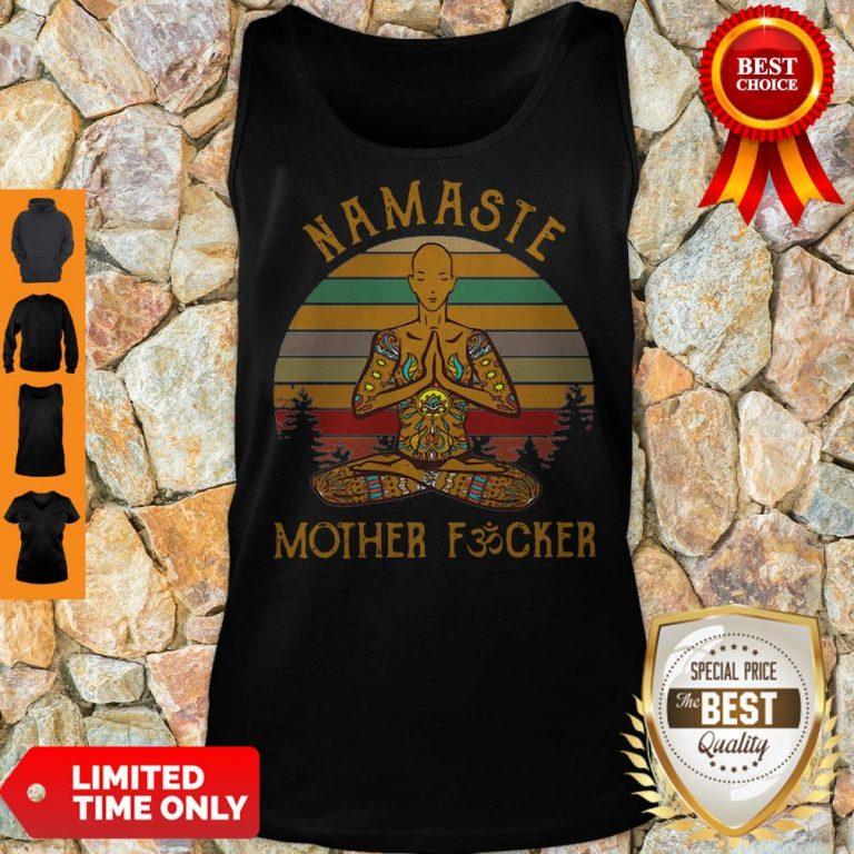 Vintage Yoga Namaste Mother Fucker Tank Top