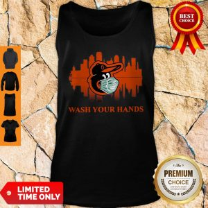 Official Baltimore Orioles Mask Wash Your Damn Hands Covid-19 Tank Top