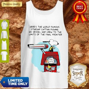 Snoopy And Woodstock Here's The World Famous Starship Snoopy's House Tank Top