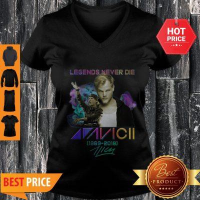 Legend Never Die Avicii 1989 2018 Signatures V-neck