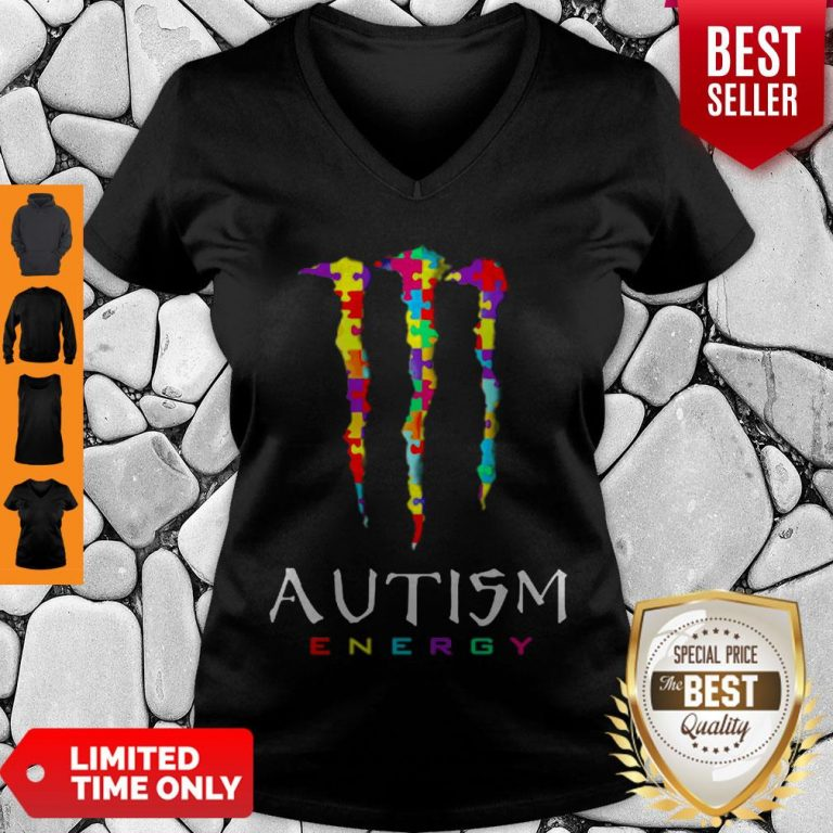 Official Monster Autism Energy V-neck