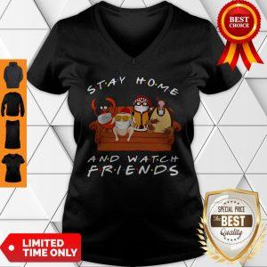 Stay Home Watch Friends Hugsy V-neck