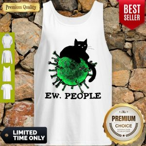Official Black Cat And Coronavirus Ew People Tank Top