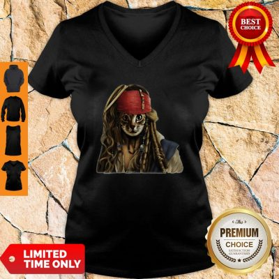Official Nice Pirates Jack Sparrow Cat V-neck