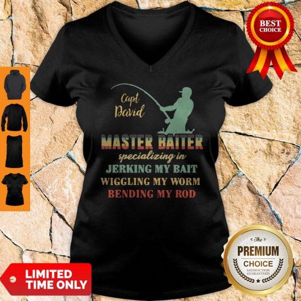 Sapt David Master Baiter Specializing In Jerking My Bait V-neck