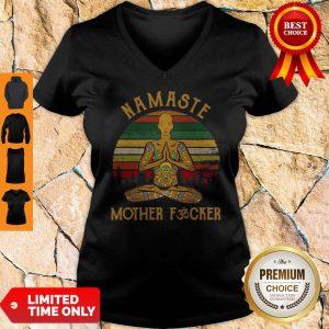 Nice Yoga Man Namaste Mother Fucker Vintage V-neck