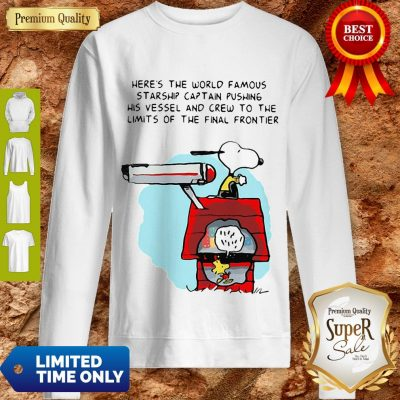 Snoopy And Woodstock Here's The World Famous Starship Snoopy's House Sweatshirt