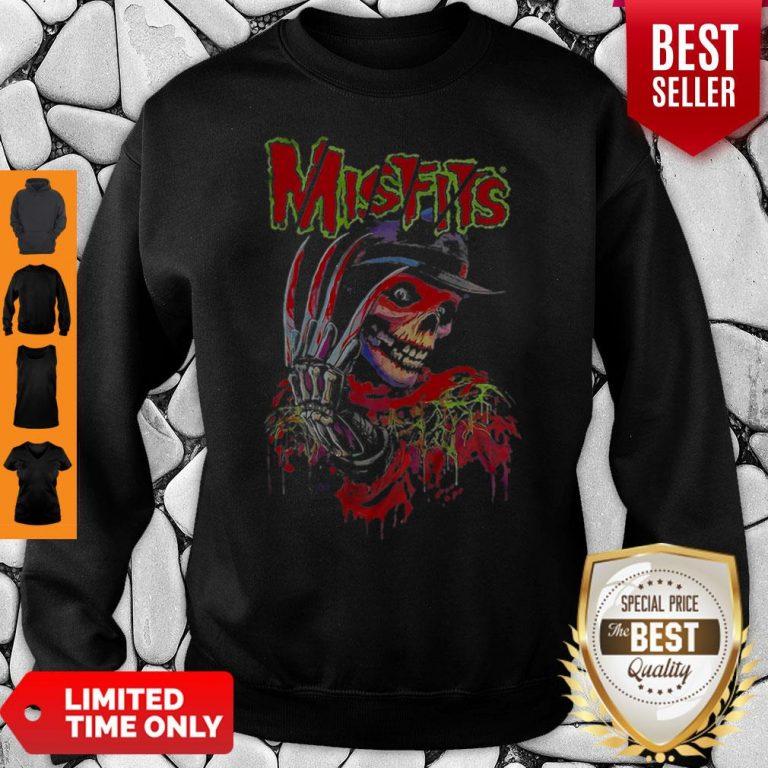 Official Skull Watercolor Misfits Sweatshirt