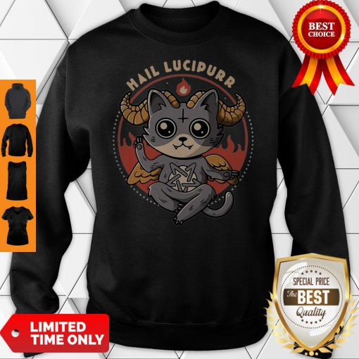 Official Satan Cat Hail Lucipurr Cat Lovers Sweatshirt