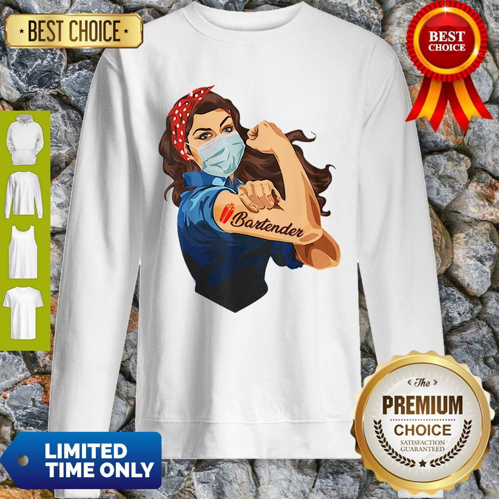 Official Strong Woman Tattoo Bartender Sweatshirt
