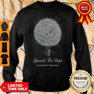 Funny Snoopy Spread The Hope Lung Cancer Awareness Sweatshirt