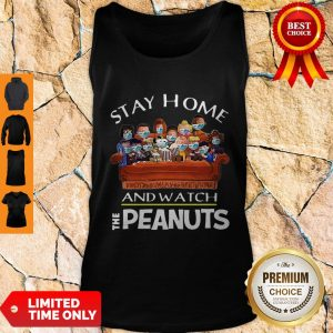 Funny Stay Home And Watch The Peanuts Tank Top
