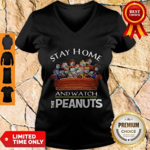 Funny Stay Home And Watch The Peanuts V-neck