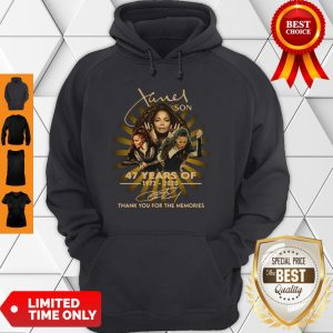 Nice Janet Jackson 47 Years Of 1973-2020 Signatures Thank You For The Memories Hoodie