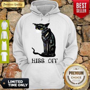 Premium Black Cat Covid Hiss Off Hoodie