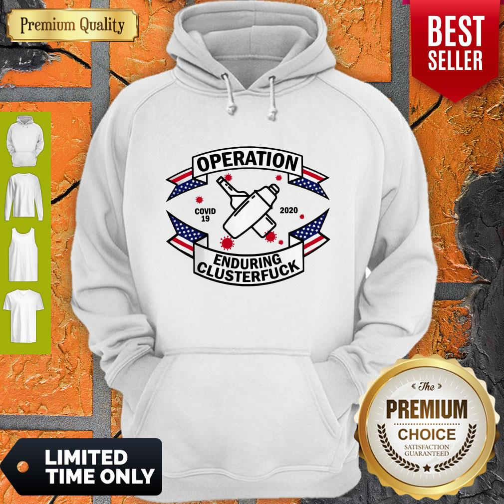 Official Bartender Operation Enduring Clusterfuck COVID 19 2020 Hoodie