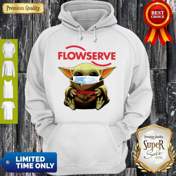 Top Baby Yoda Mask Flowserve I Can't Stay At Home Coronavirus Hoodie